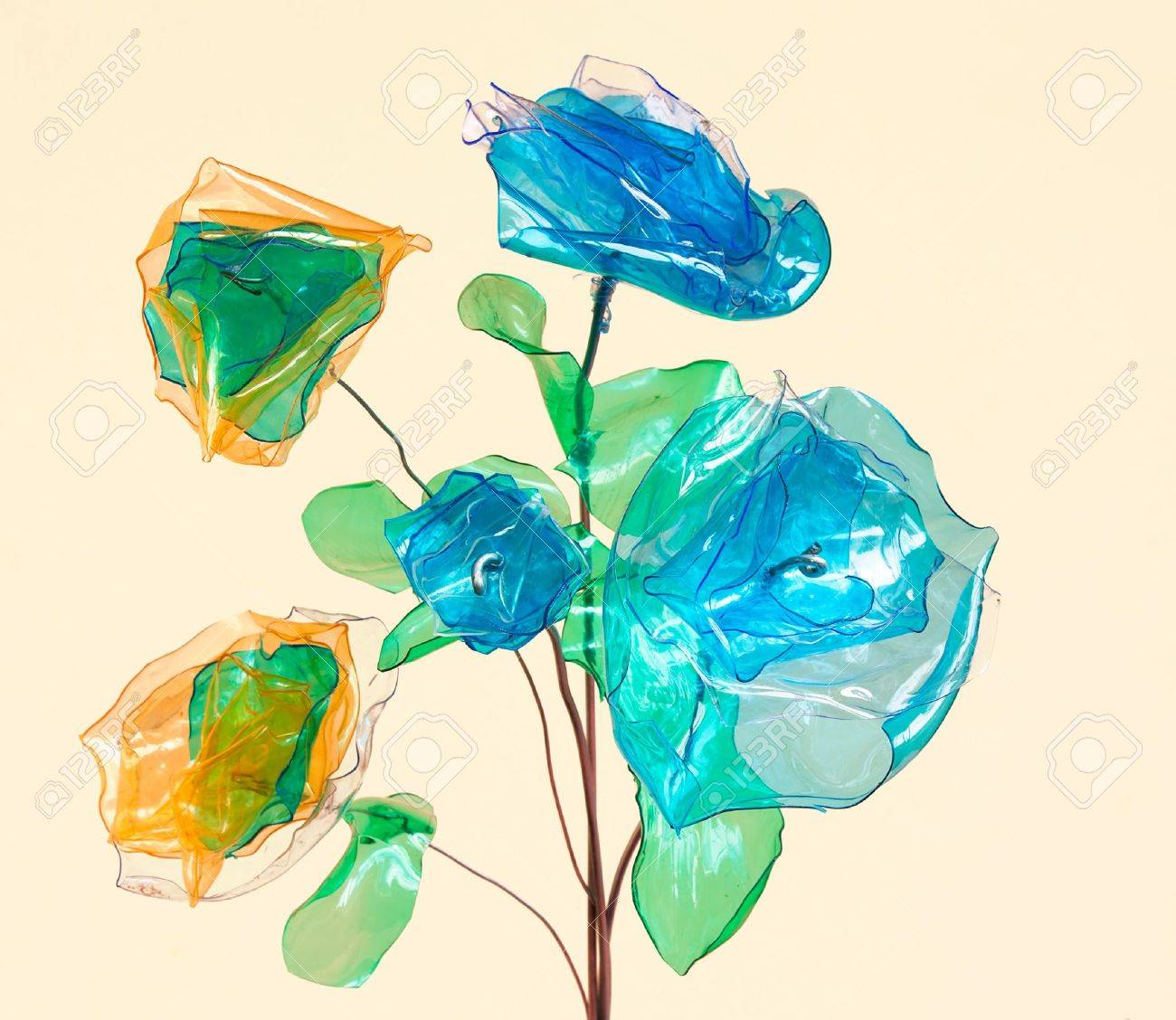 Plastic Bottle Recycling Creative Recycling Flowers Made From Scraps Of Plastic Bottles