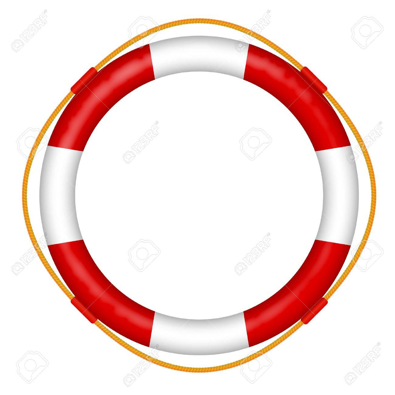 d7533fc7ad9 life buoy with rope - red and white lifebelt - sos help icon vector  illustration Stock