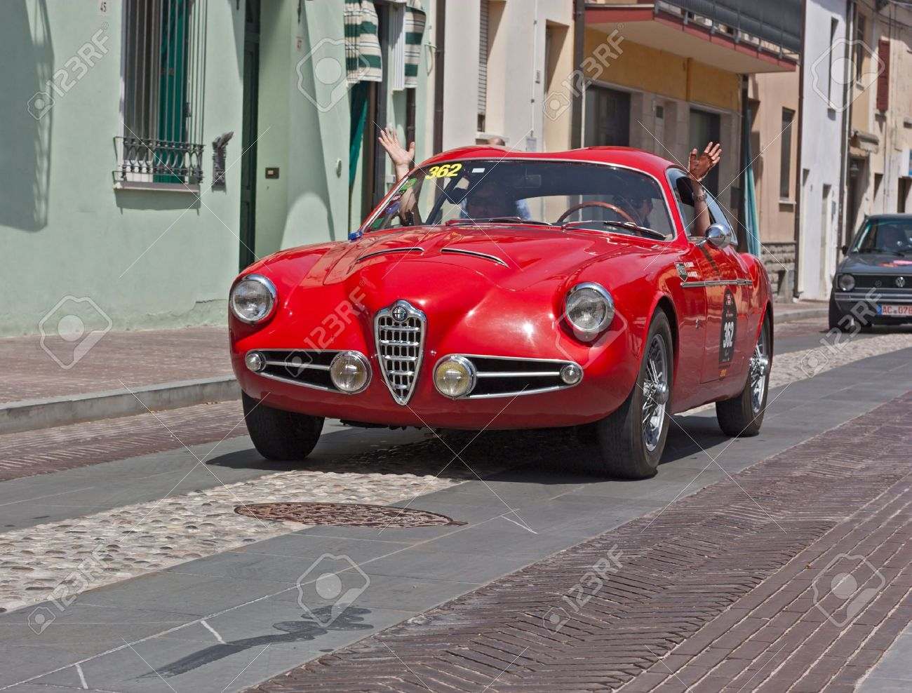 A Vintage Car Alfa Romeo 1900 C Super Sprint (1957) In Classic Cars Rally