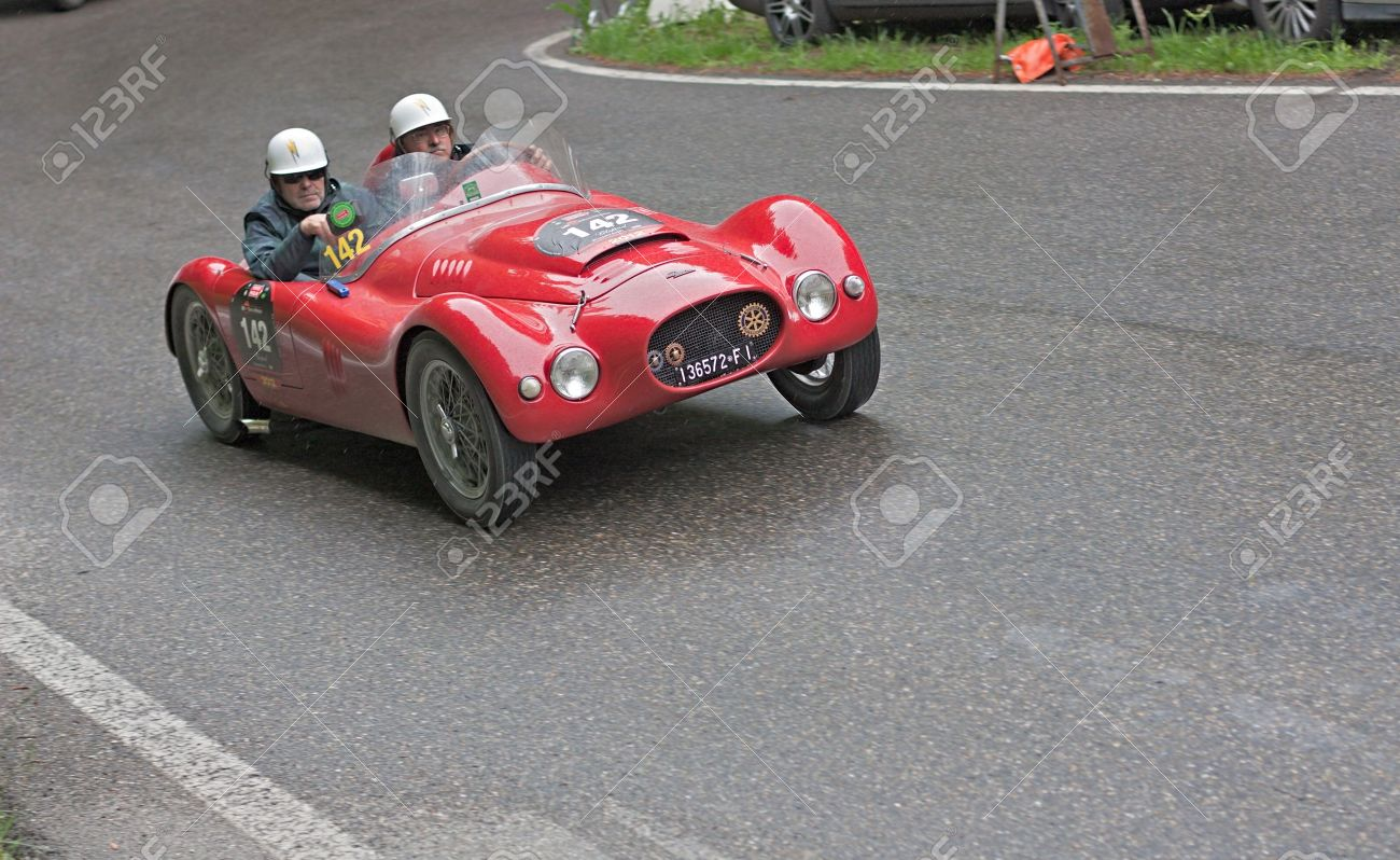 An Old Racing Car Patriarca 750 Sport (1950) Runs In Rally Mille ...