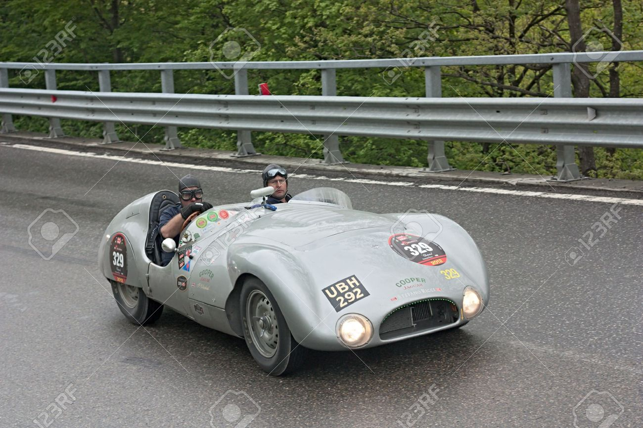 An Old Racing Car Cooper T33 (1954) Runs In Rally Mille Miglia ...