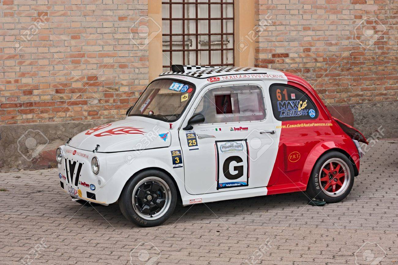 Predappio Italy July 21 Tuning Fiat 500 Old Type At Vintage