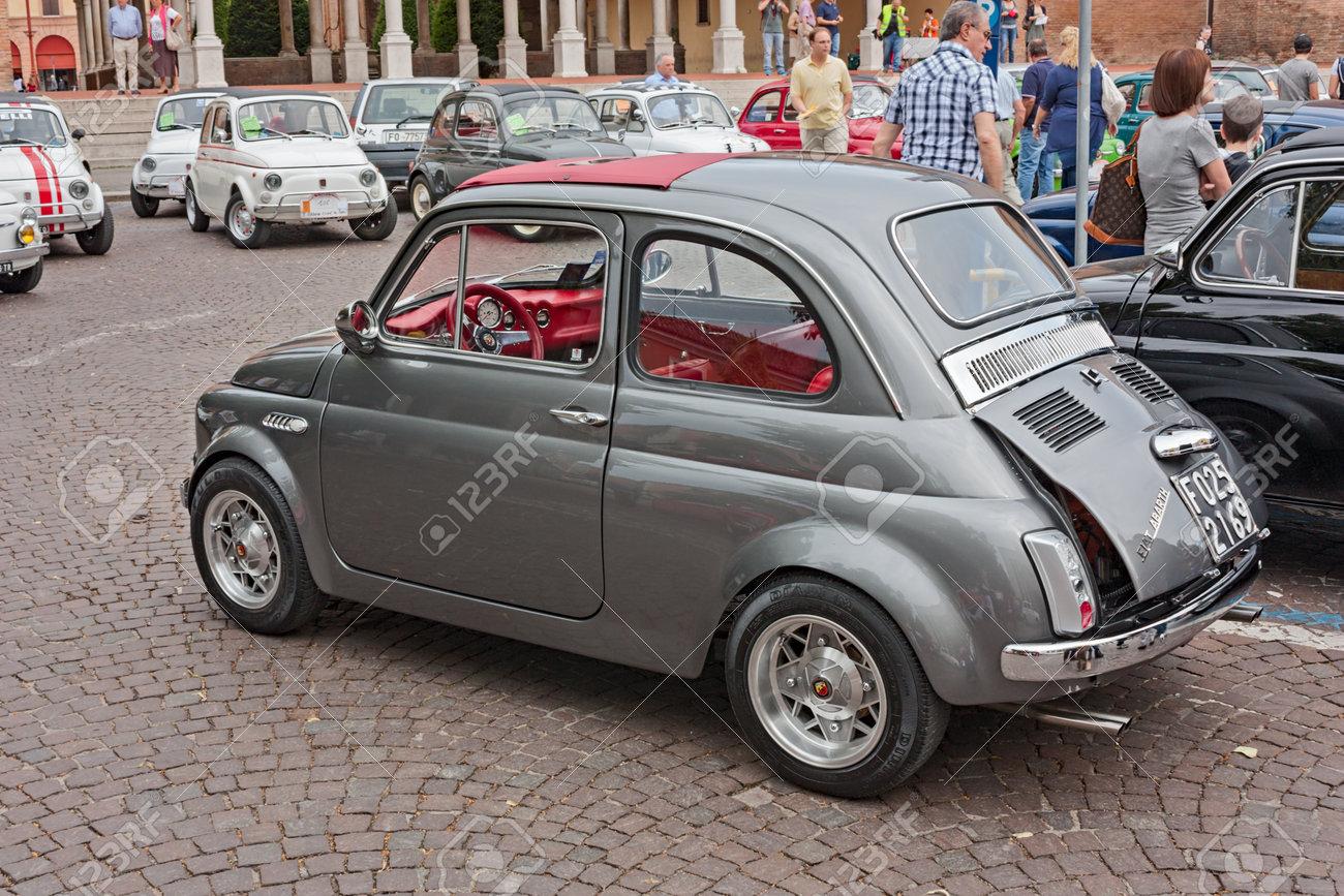 Vintage Italian Tuned Car Fiat 500 Abarth At