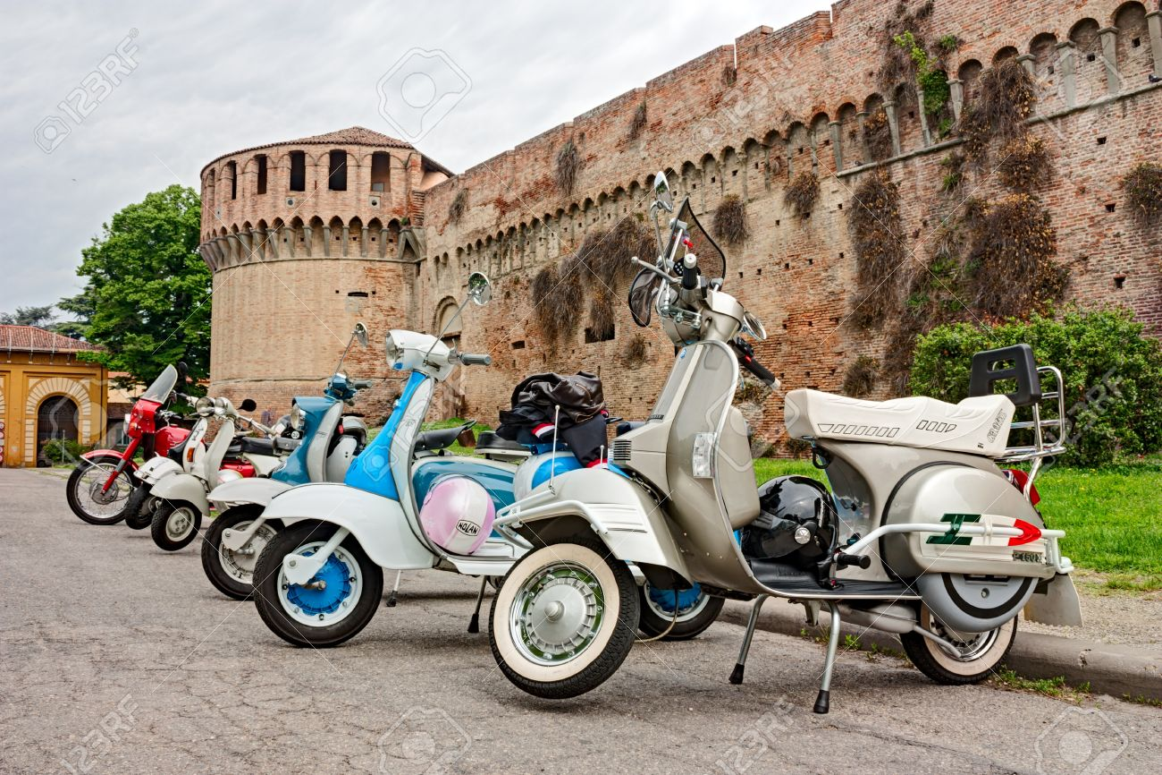 Imola Bo Italy April 29 Vintage Italian Scooters Lambretta