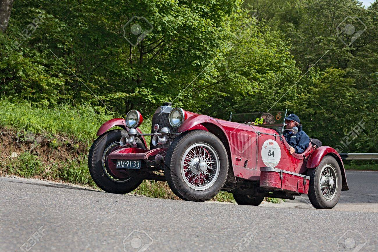 An Old Car Mercedes-Benz SSK (1929) Runs In Rally Mille Miglia ...