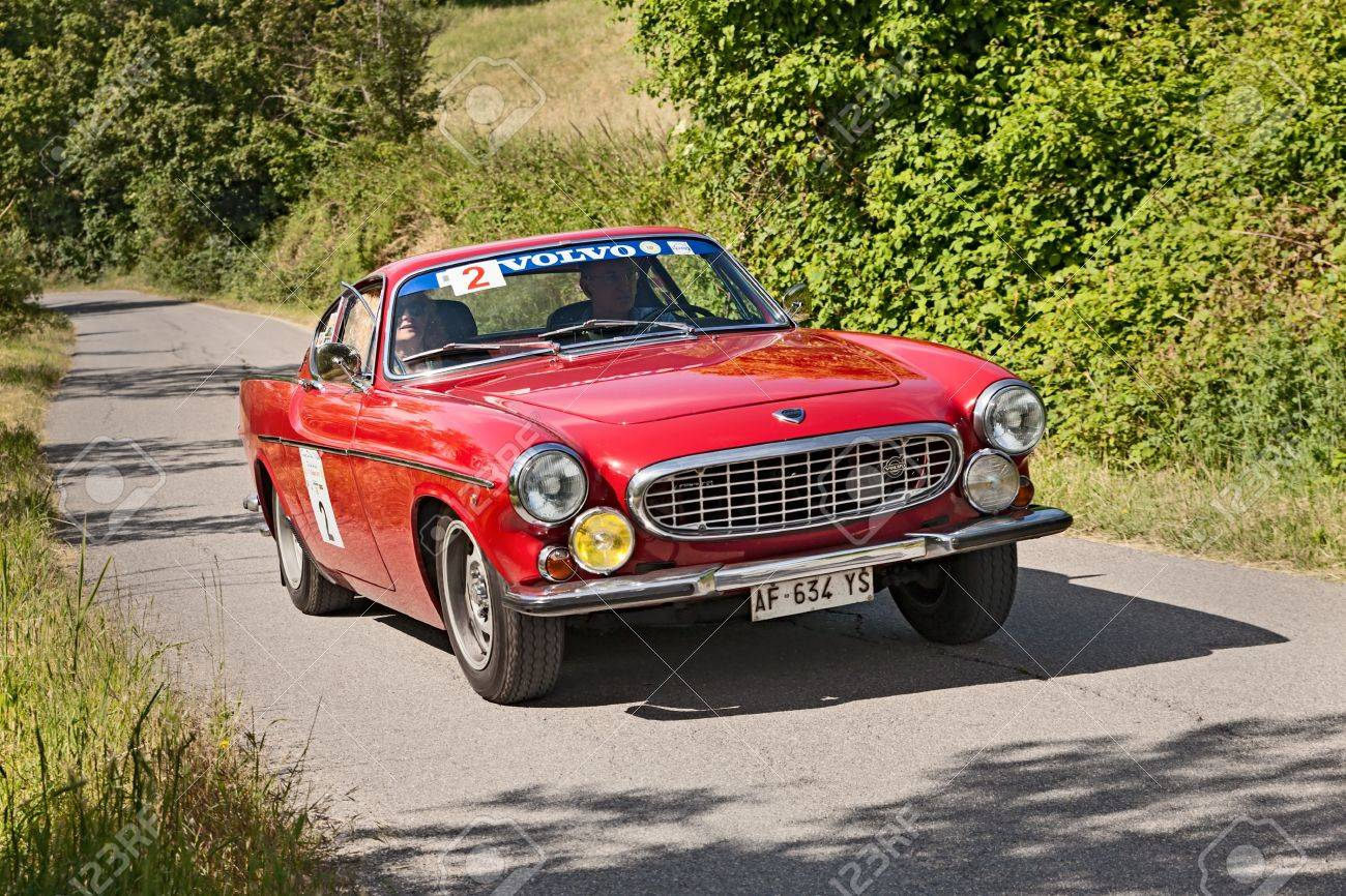 A Vintage Car Volvo P 1800 S (1965) Runs In Rally For Classic Cars