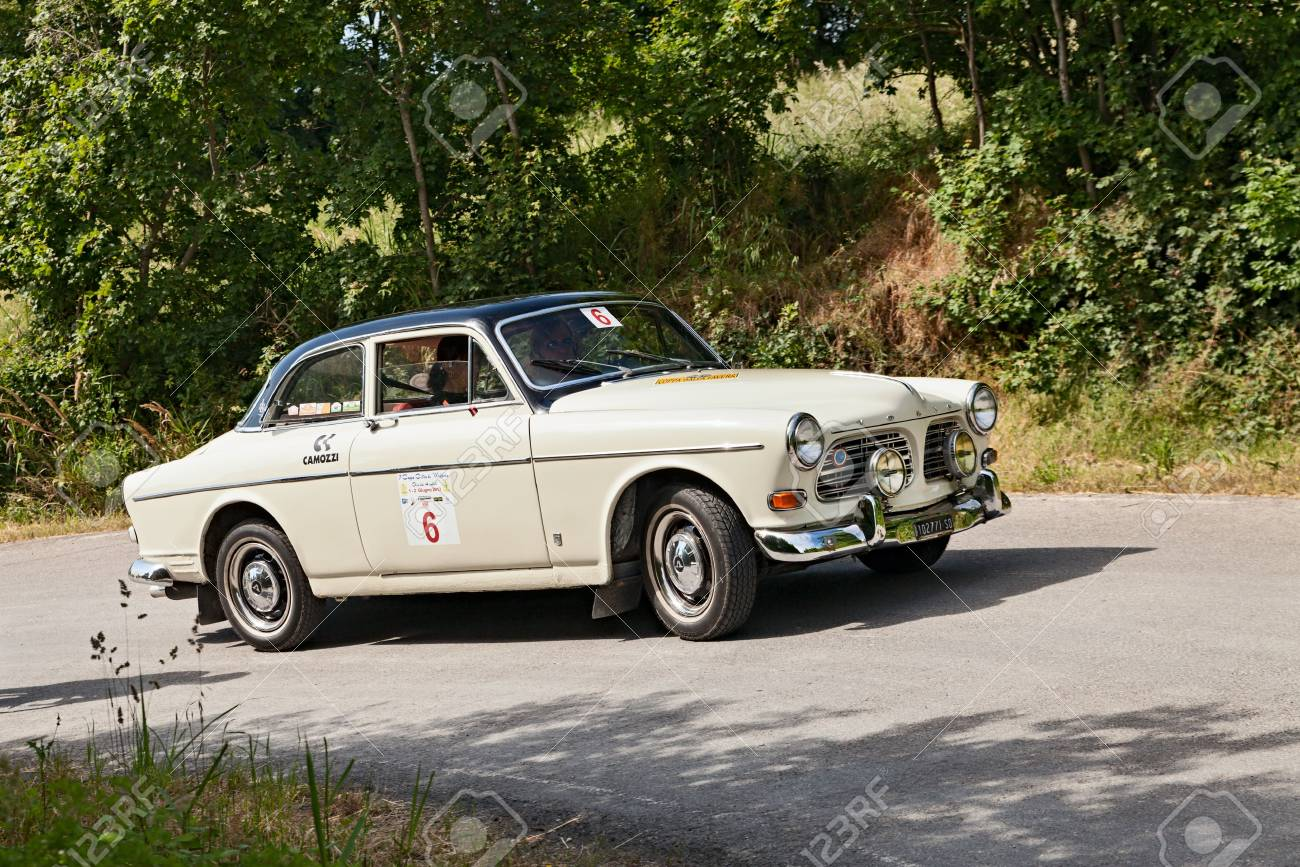 An Old Car Volvo Amazon Runs In Rally For Classic