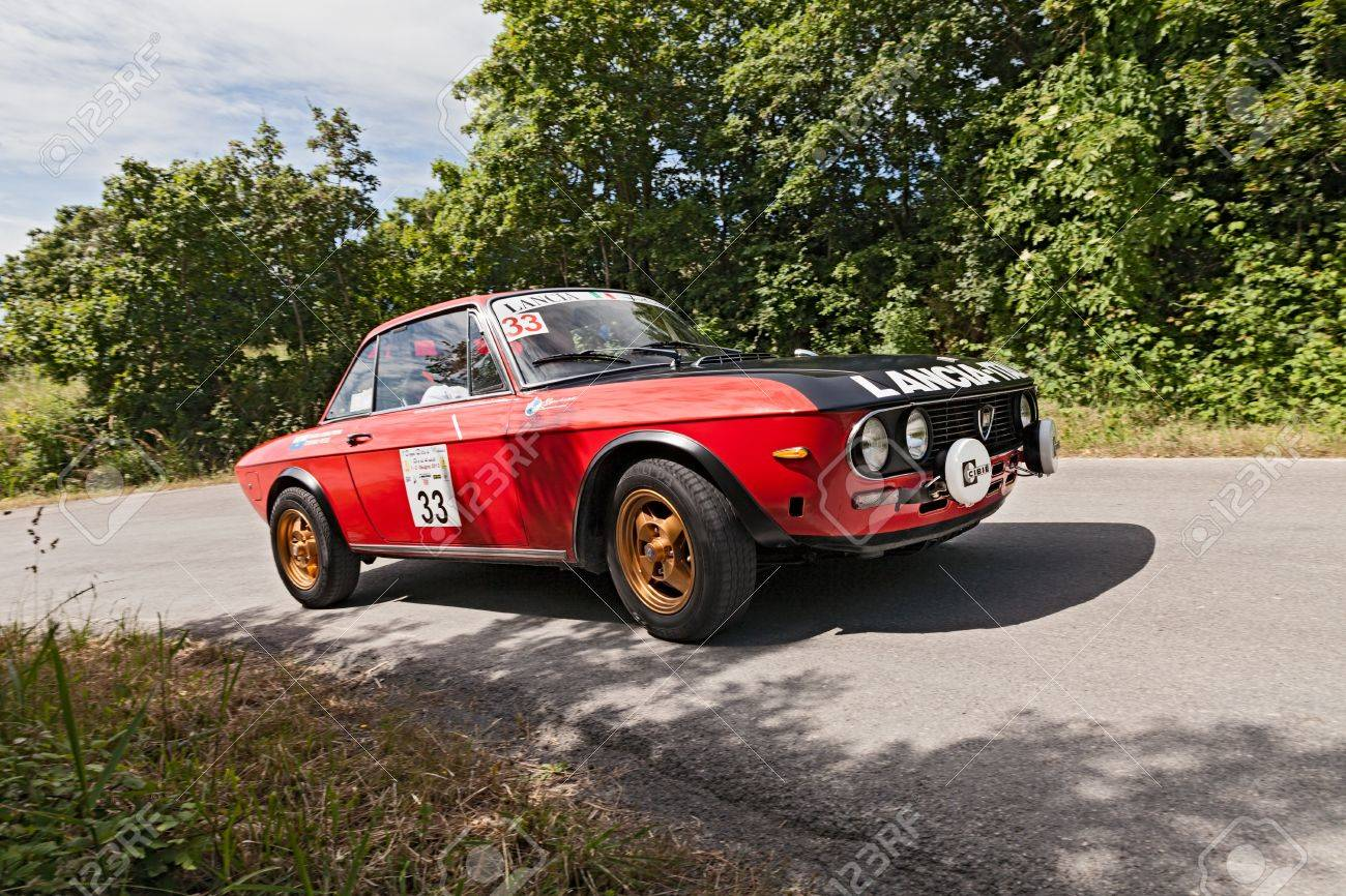 A Vintage Racing Car Lancia Fulvia 1.3 (1973) Runs In Rally For ...