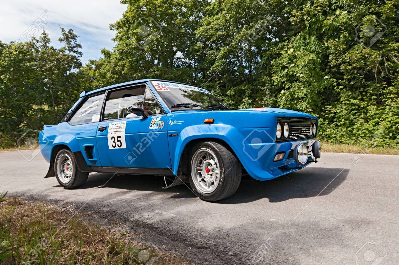 A Vintage Car Fiat 131 Abarth Rally (1977) Runs In Historic Race ...