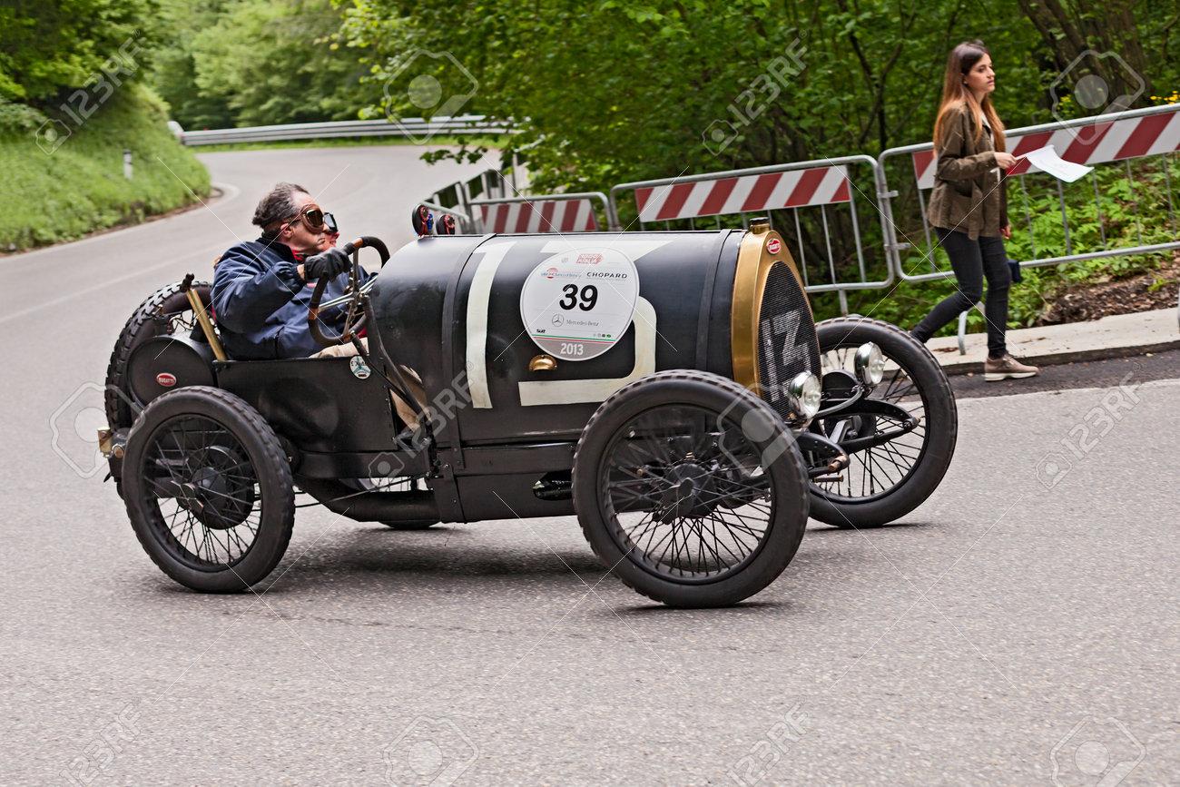 An Old Racing Car Bugatti T 13 Brescia (1921) Runs In Rally Mille ...