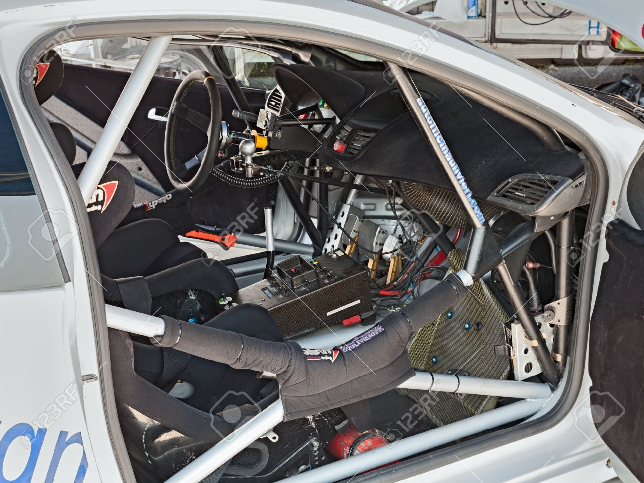 Interior Of A Racing Car Peugeot 207 Winner Of The Competition Stock Photo Picture And Royalty Free Image Image 21348685