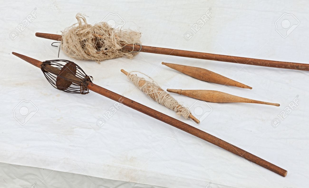 Ancient distaff and spindle tools for manual spinning thread ancient distaff and spindle tools for manual spinning thread of wool flax hemp sciox Gallery