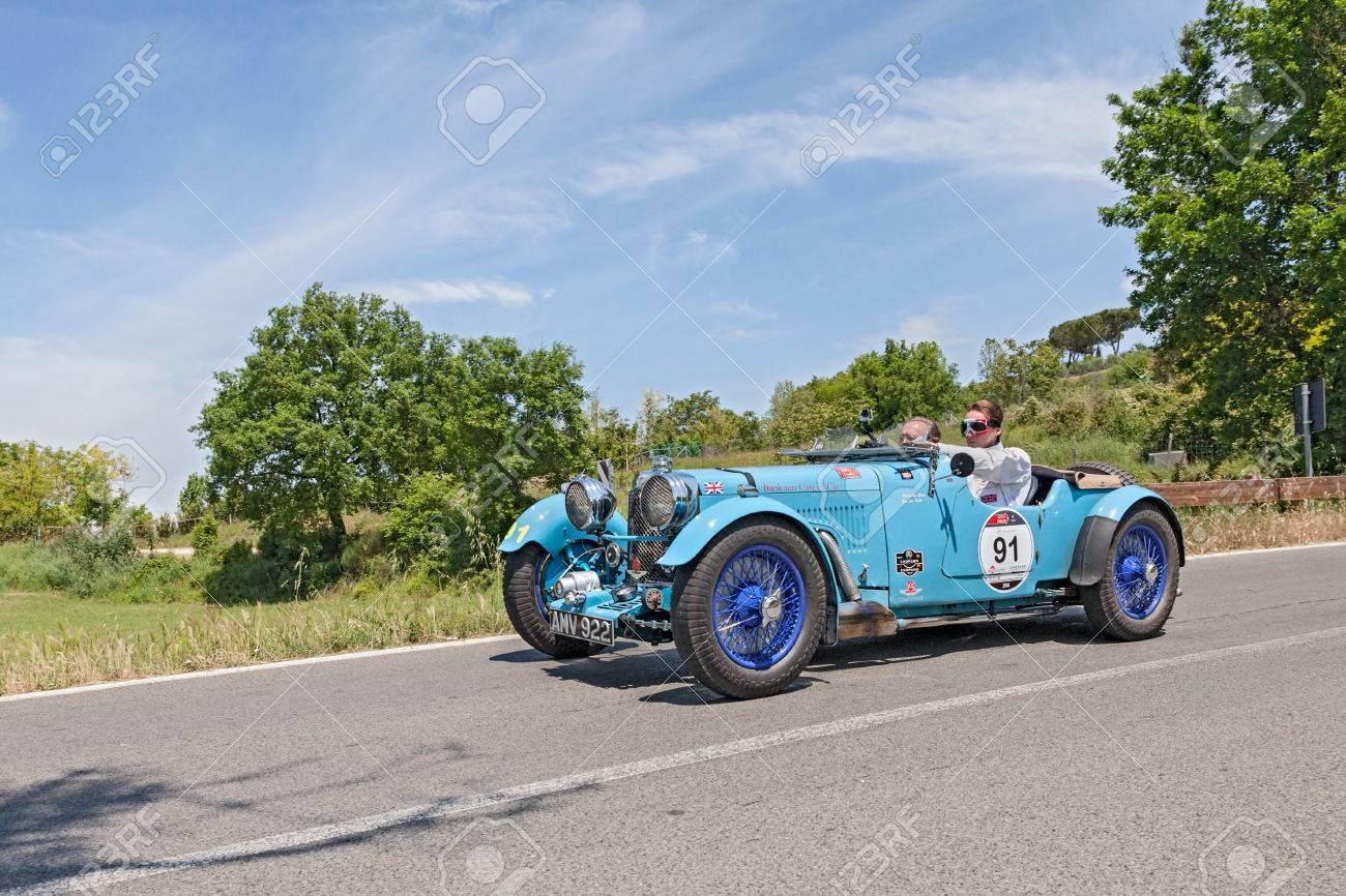 The Crew Jan And Karel Ten Cate On A Vintage Racing Car Aston Stock Photo Picture And Royalty Free Image Image 30040580
