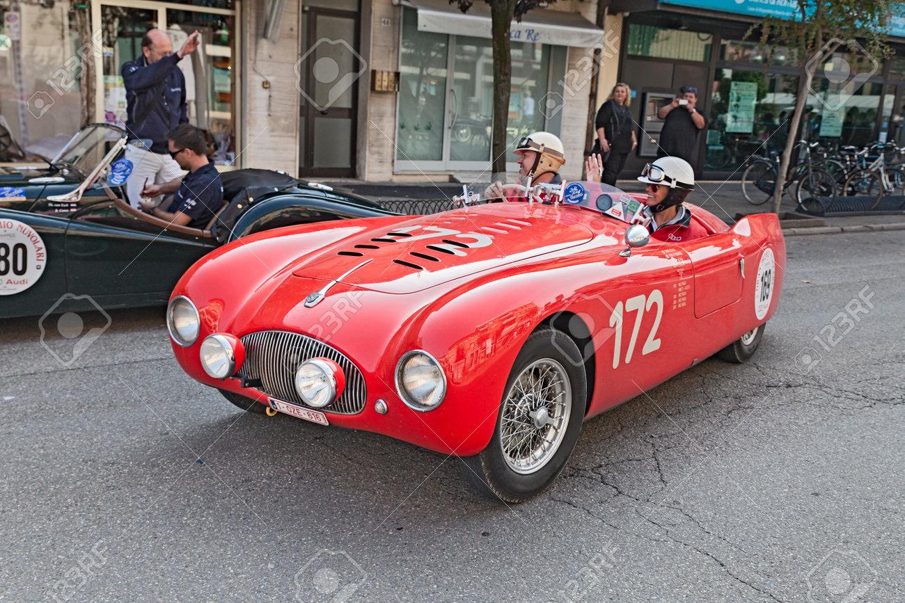 The Crew J. De Reu - S. Goethals On An Old Racing Car Cisitalia ...