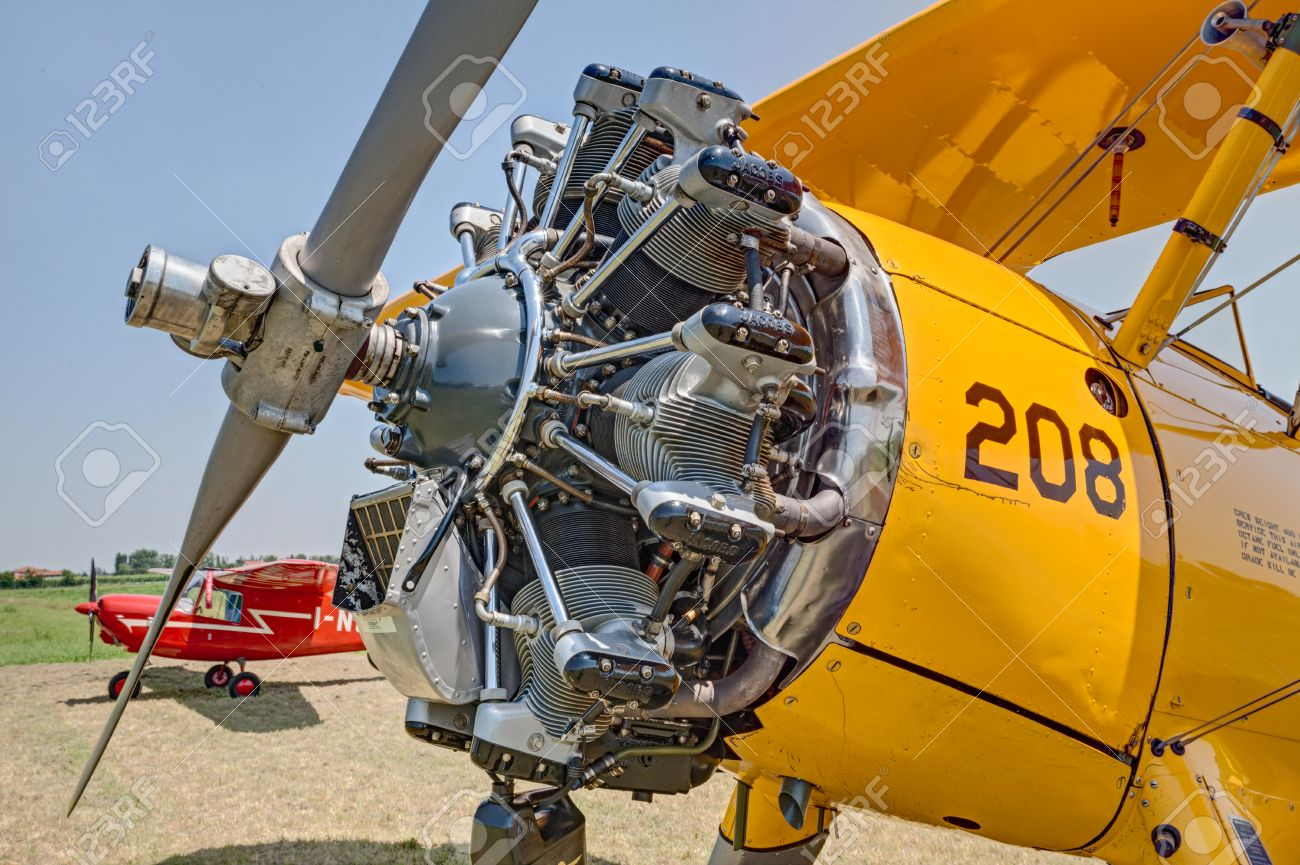 Jacobs R-755 seven cylinder, air cooled, radial engine of a vintage