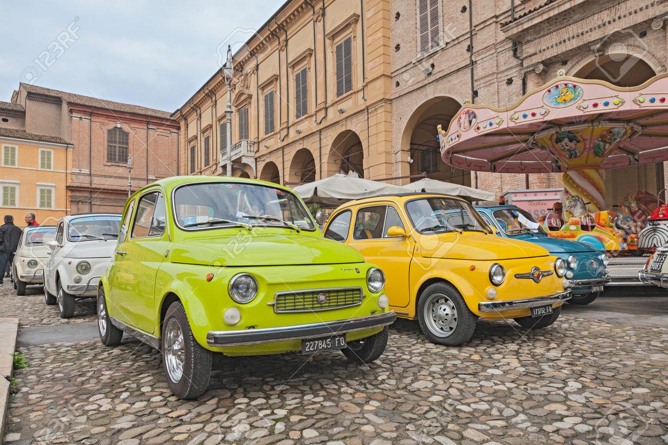 Vintage Italian Car Fiat 500 Francis Lombardi And Abarth Near