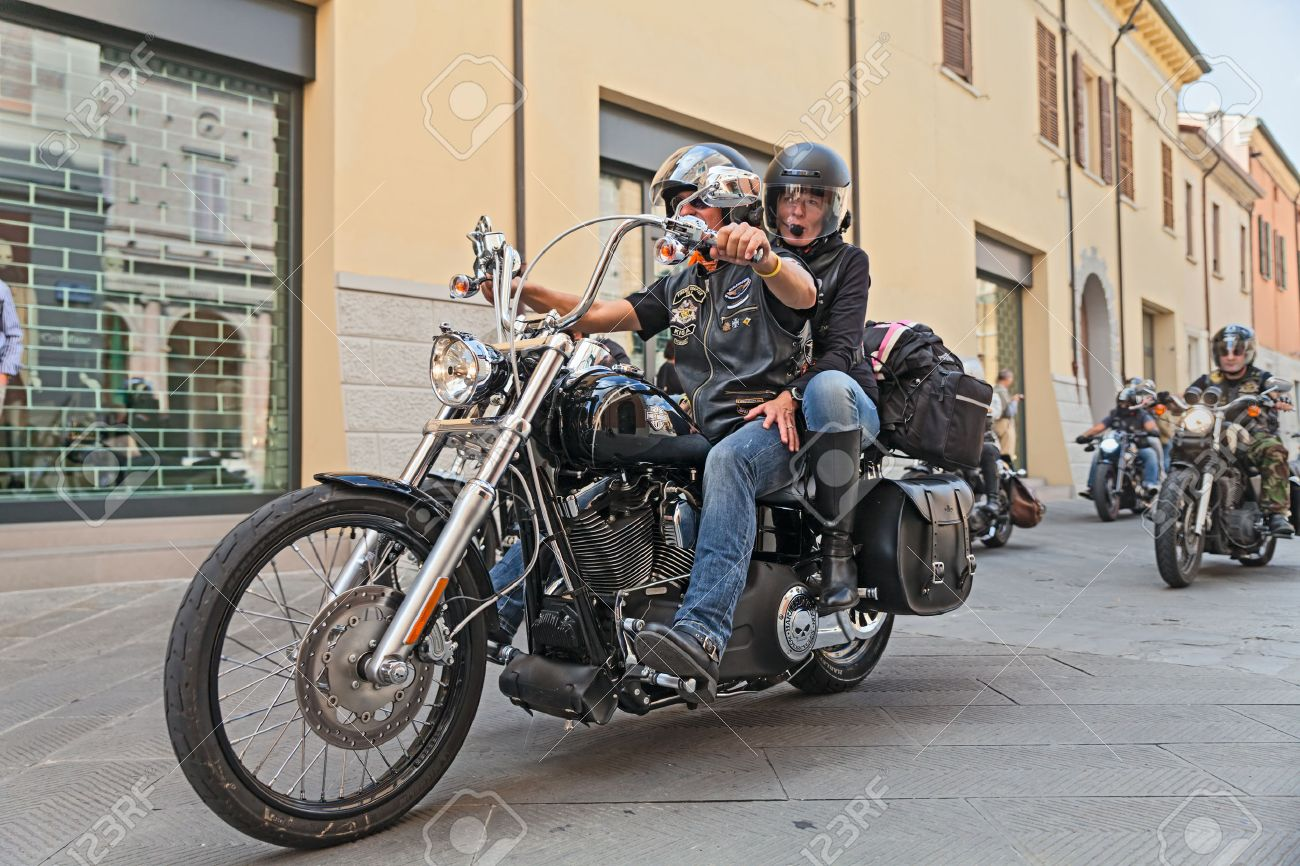 Lugo ra italy september 22 bikers riding motorbike harley lugo ra italy september 22 bikers riding motorbike harley davidson during the kristyandbryce Gallery