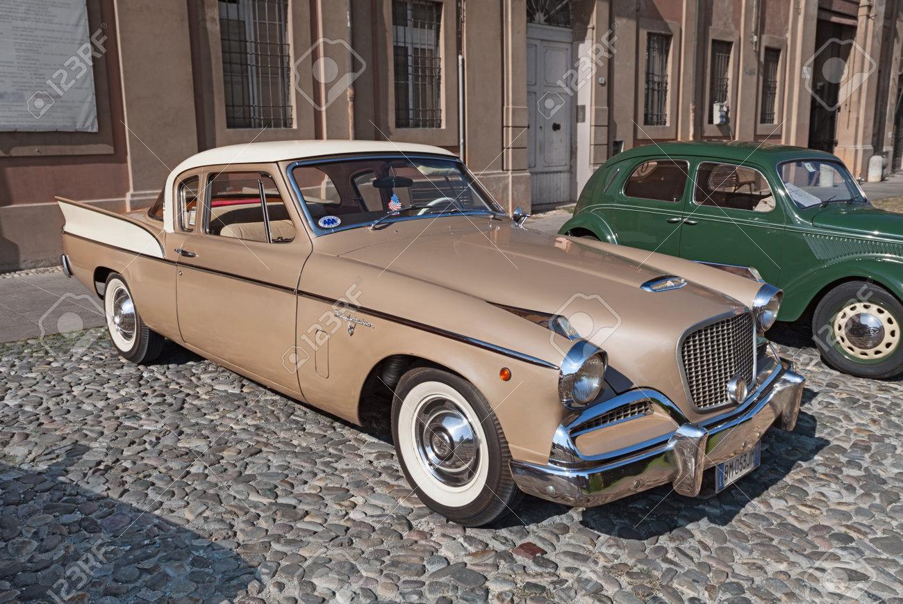 Vintage American Car Studebaker Silver Hawk 1958 Parked During ...