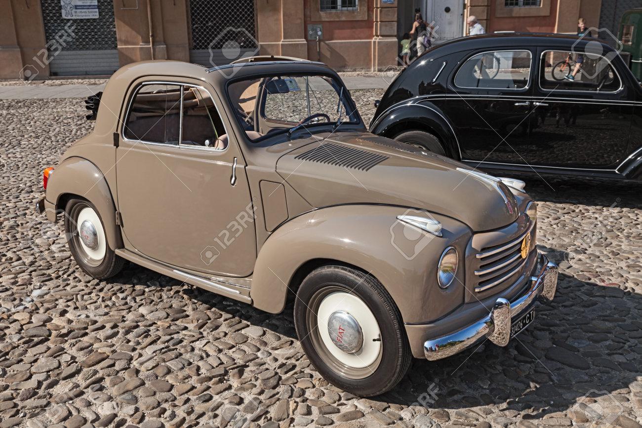 Old Italian Small Car Fiat 500 C Topolino Trasformabile 1954.. Stock ...