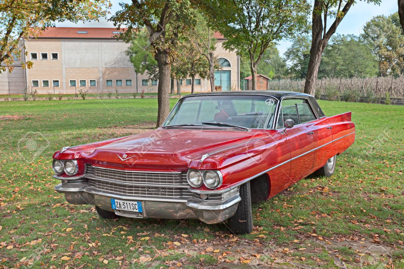 Vintage American Car Cadillac Series 6200 Of The Sixties Parked ...