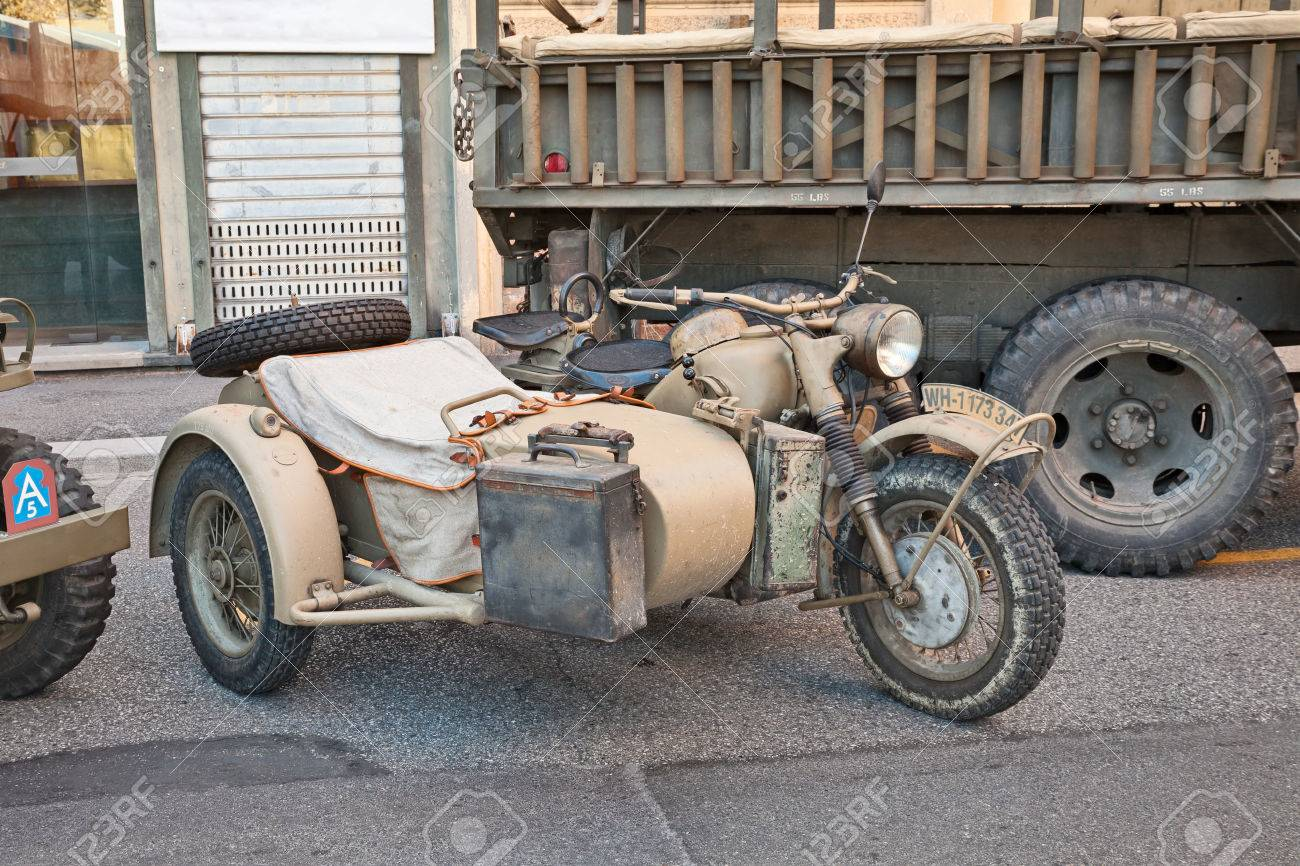 Old Motorcycle With Sidecar Made In Germany Bmw R75 750 Cc World Stock Photo Picture And Royalty Free Image Image 56095342