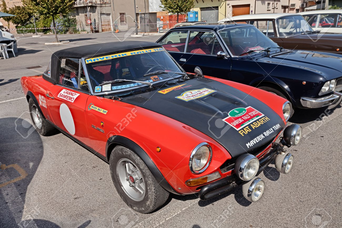 Vintage Italian Racing Car Fiat Abarth 124 Sport Rally Of The