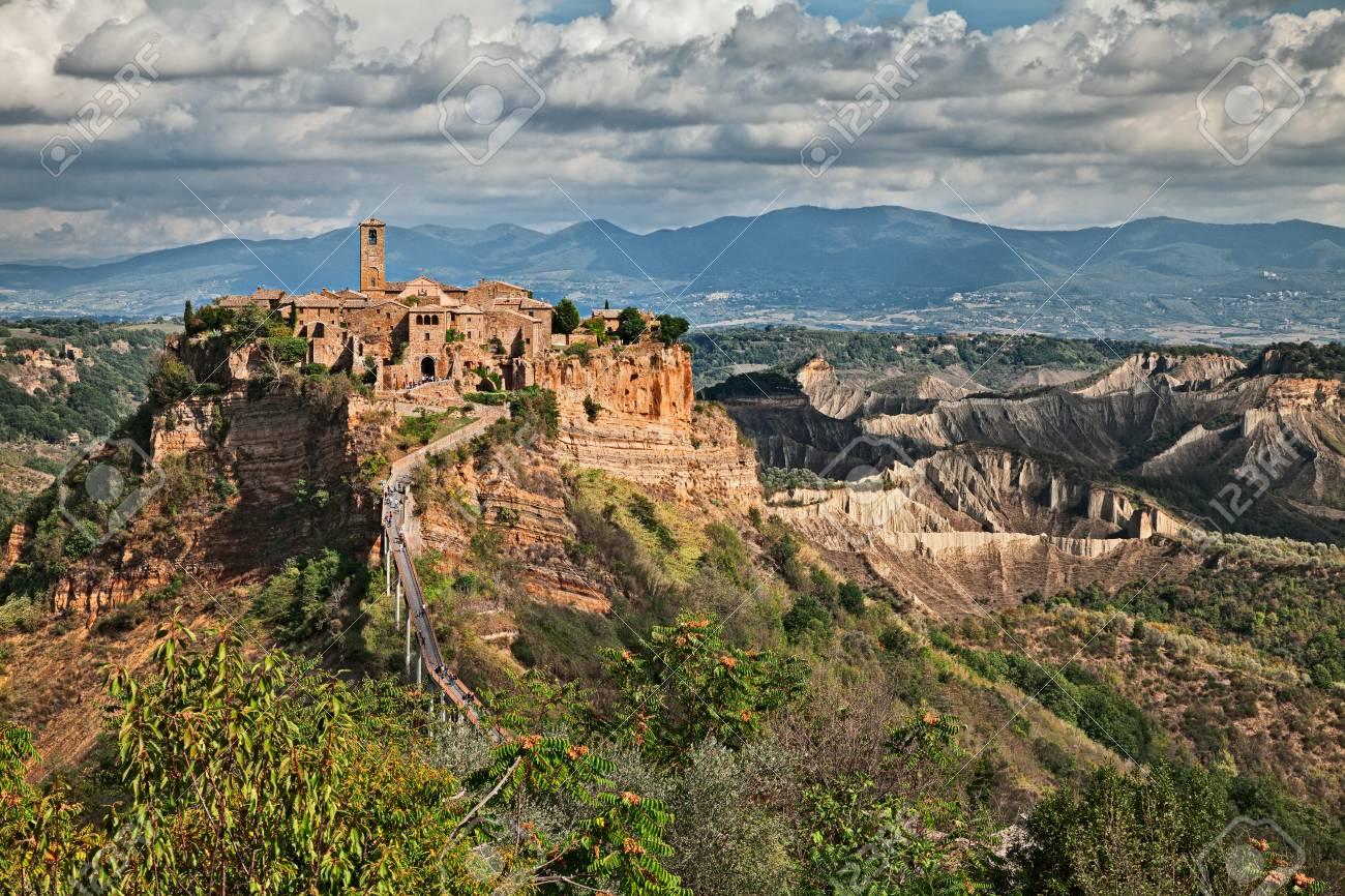 Civita Di Bagnoregio Viterbo Lazio Italy Picturesque Landscape