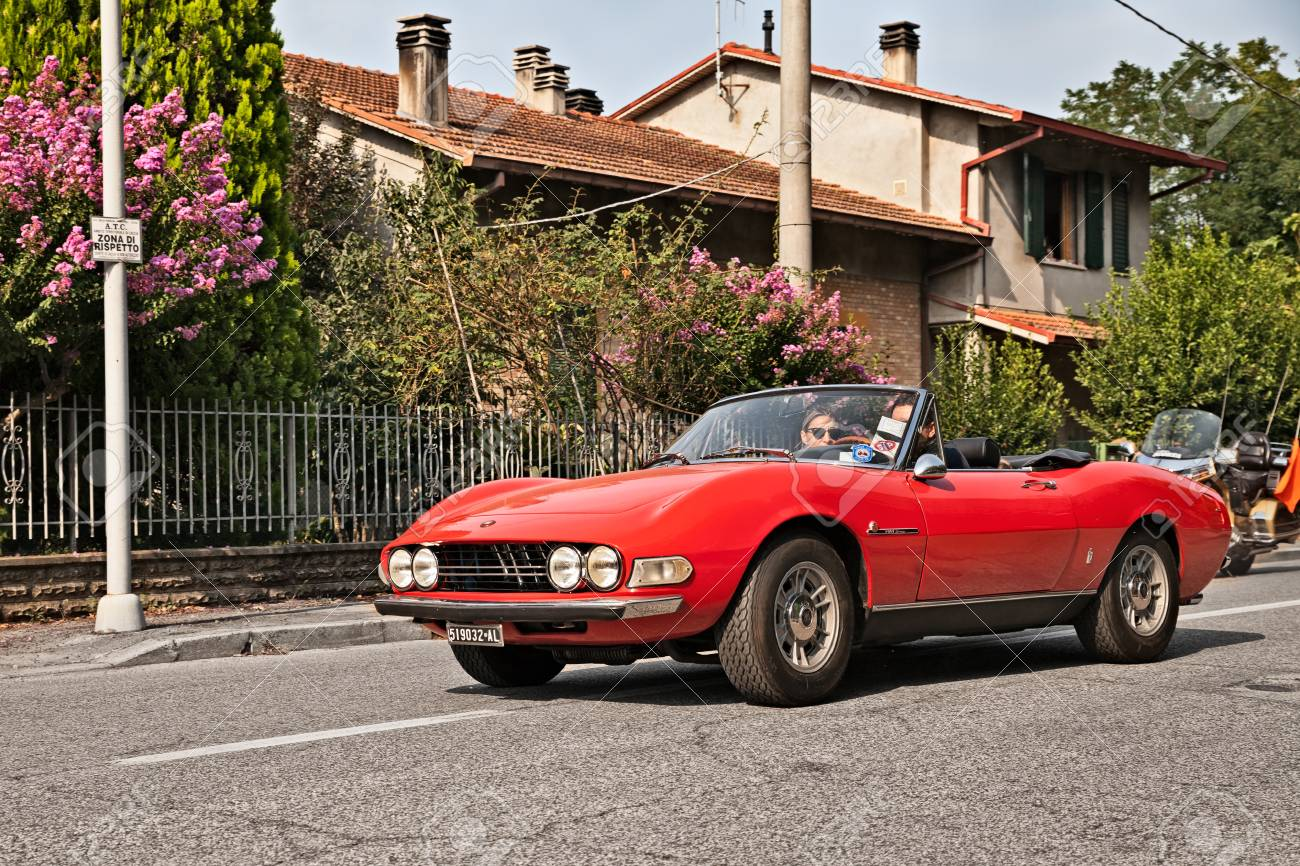 Vintage Italian Sports Car Fiat Dino Spider 2400 1971 With Stock