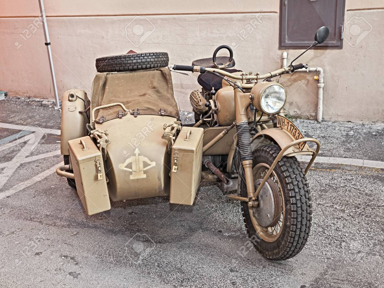 Old Bmw R75 750 Cc World War Ii Era Motorcycle With Sidecar Stock Photo Picture And Royalty Free Image Image 83515375