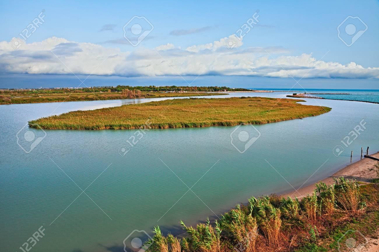 Rosolina Veneto Italy Landscape Of The Adige River Mouth In - Po river