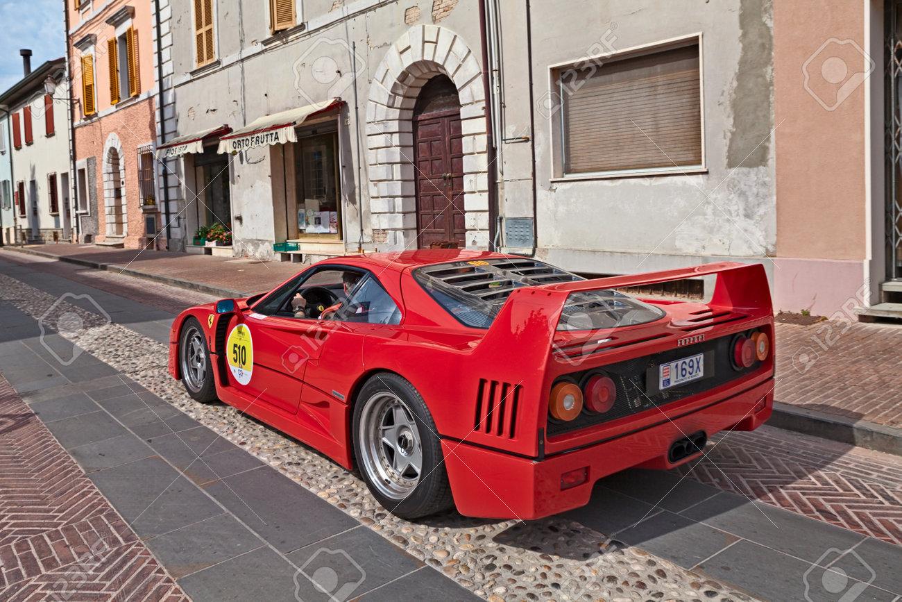 Ferrari F40 1980 In Rally Ferrari Tribute To Mille Miglia Stock Photo Picture And Royalty Free Image Image 102659029