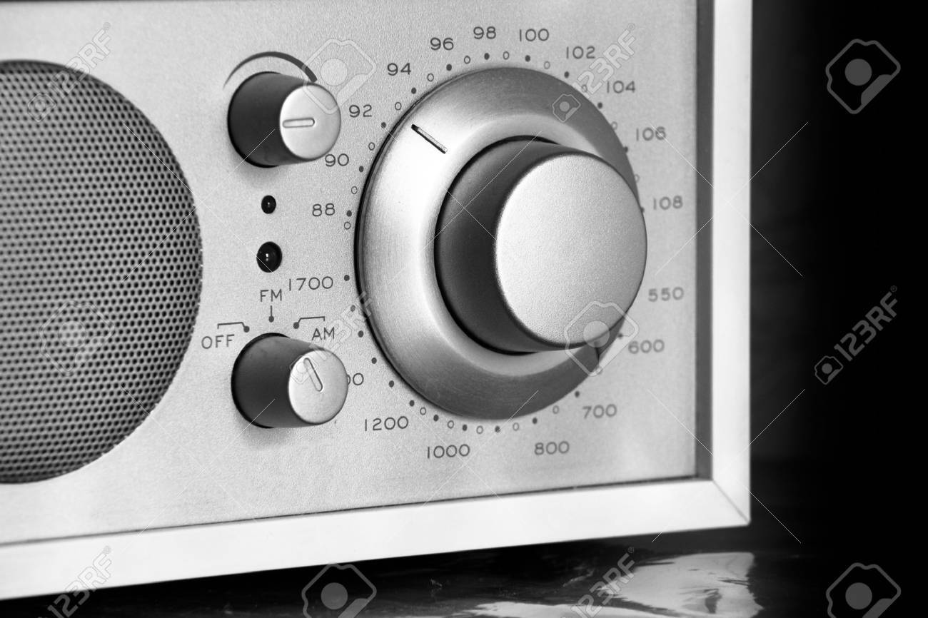 knob to tune in your favorite radio station