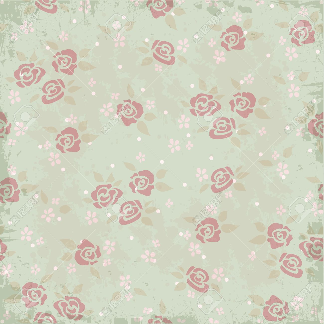 Vintage Background Pattern With Roses Royalty Free Cliparts Vectors