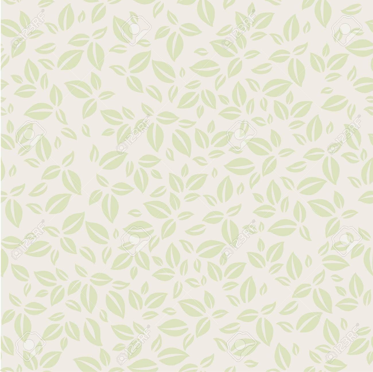 Vintage background pattern with leaves Stock Vector - 18795060
