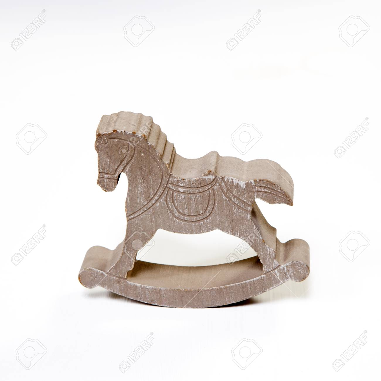 Classic Homemade Wooden Rocking Horse On White Background Stock Photo Picture And Royalty Free Image Image 93700200