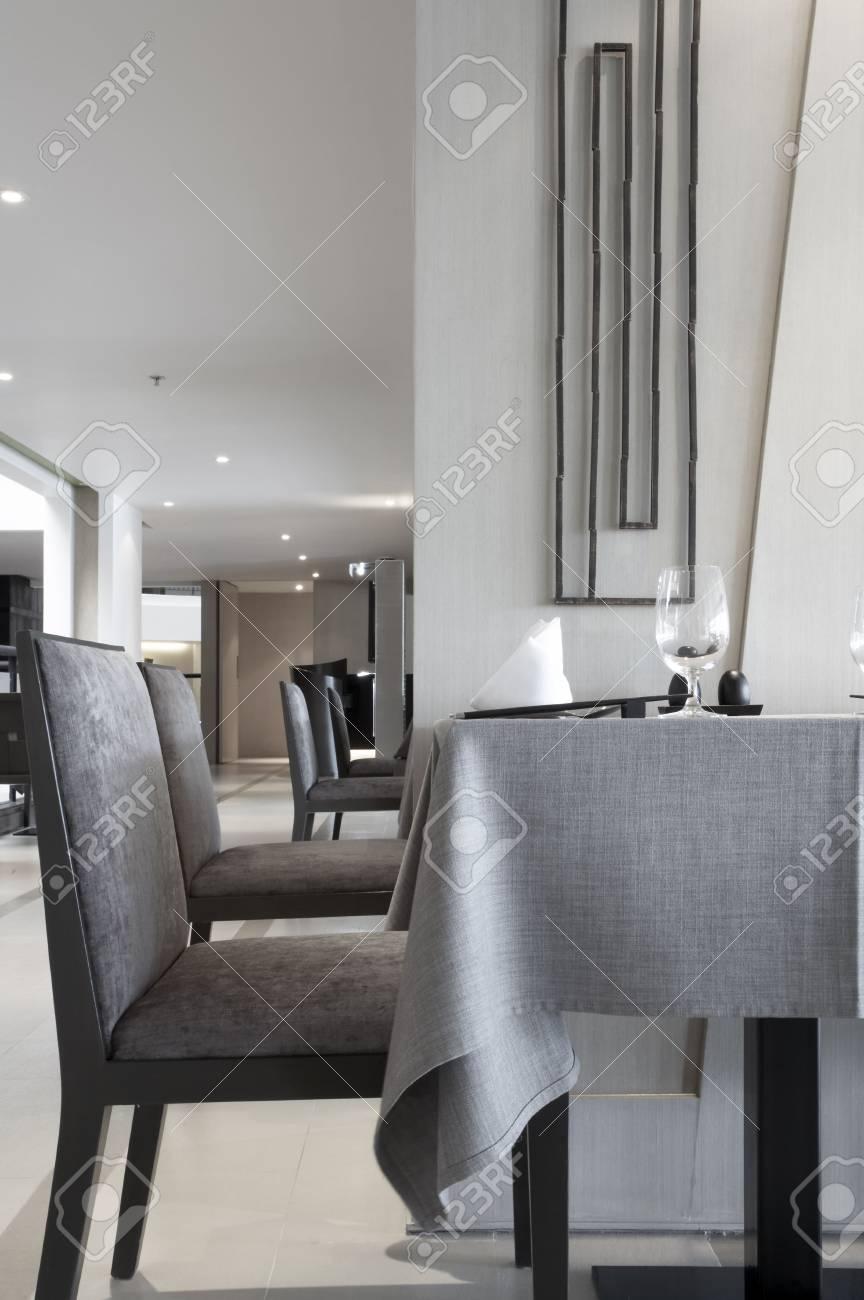 Modern restaurant table setting - Fragment Like View Of Table Setting At Modern Restaurant Stock Photo 3088490