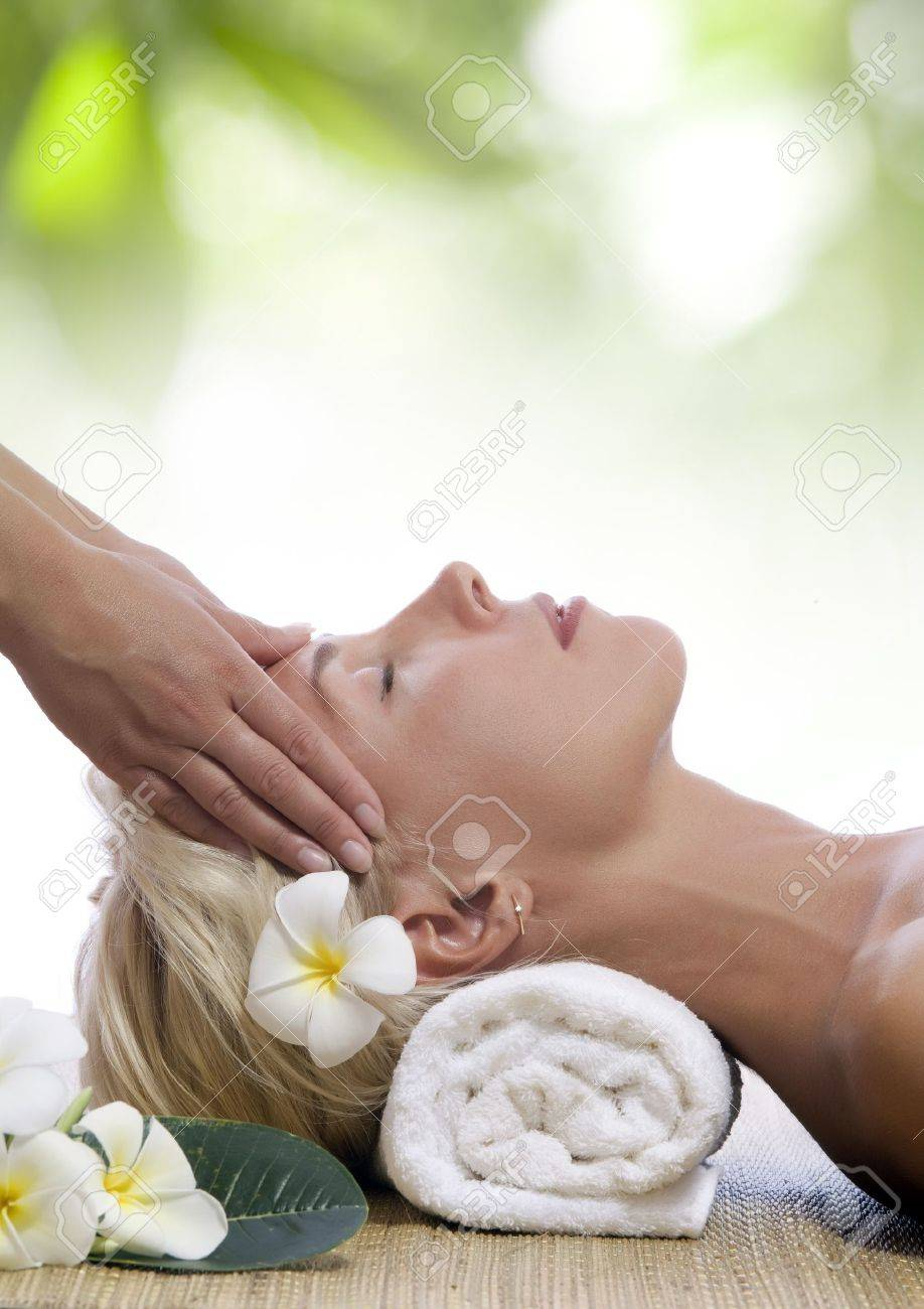 portrait of young beautiful woman in spa environment Stock Photo - 7380052