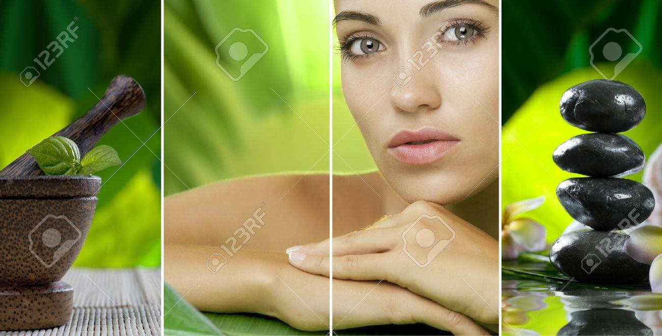 Spa theme collage composed of different images Stock Photo - 8377612