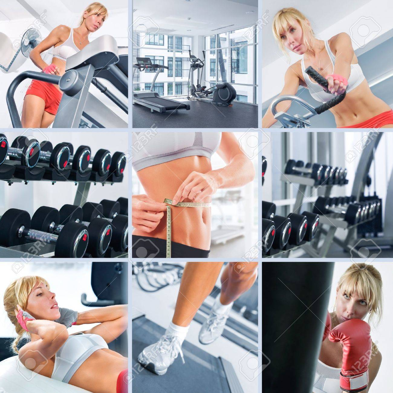 Healthy lifestyle  theme collage composed of different images Stock Photo - 9099705