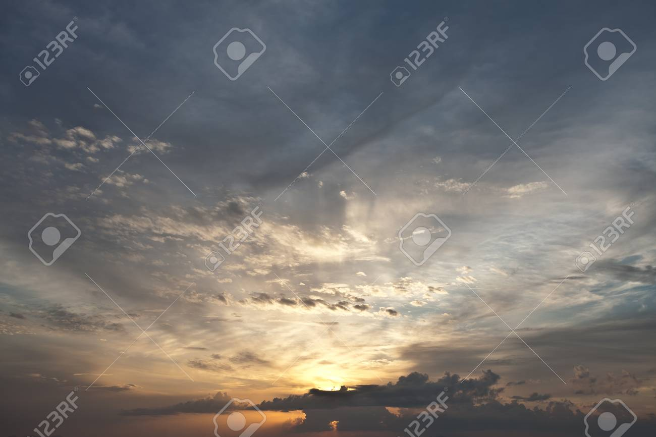 panoramic view of nice color sky during sunset Stock Photo - 10689759