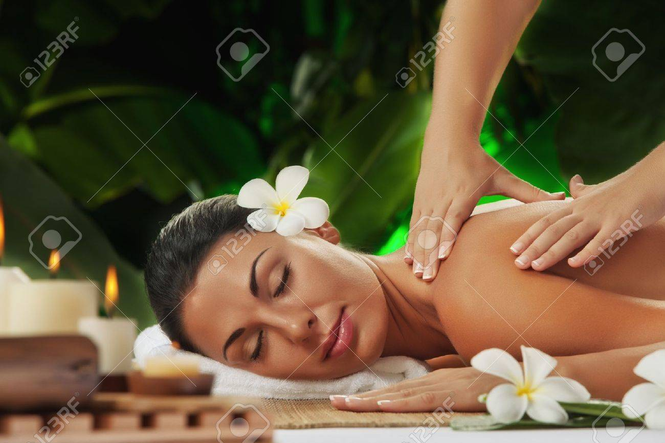 portrait of young beautiful woman in spa environment Stock Photo - 13664369