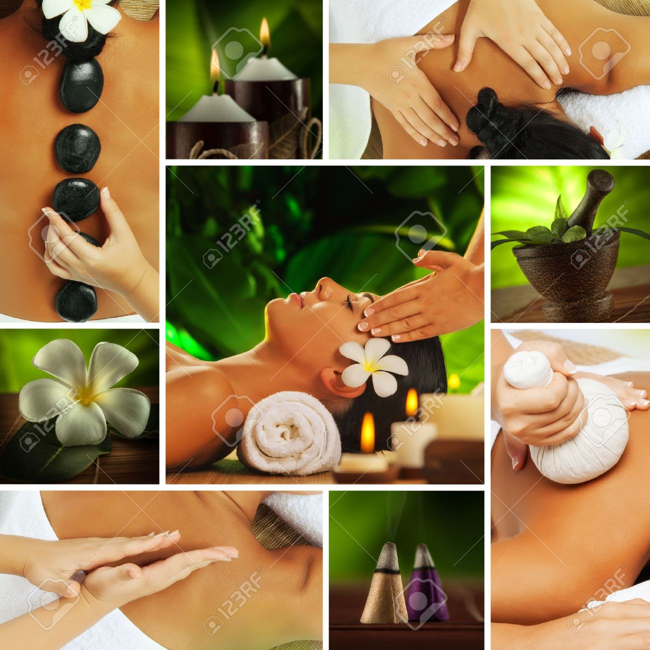 Spa theme  photo collage composed of different images Stock Photo - 14736743
