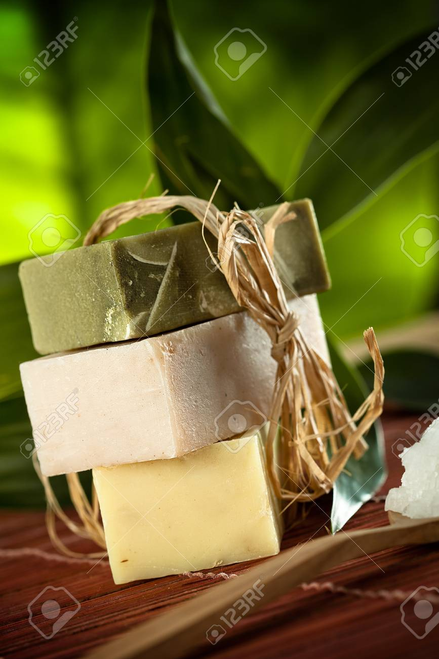 view of spa theme object on color background Stock Photo - 16245725