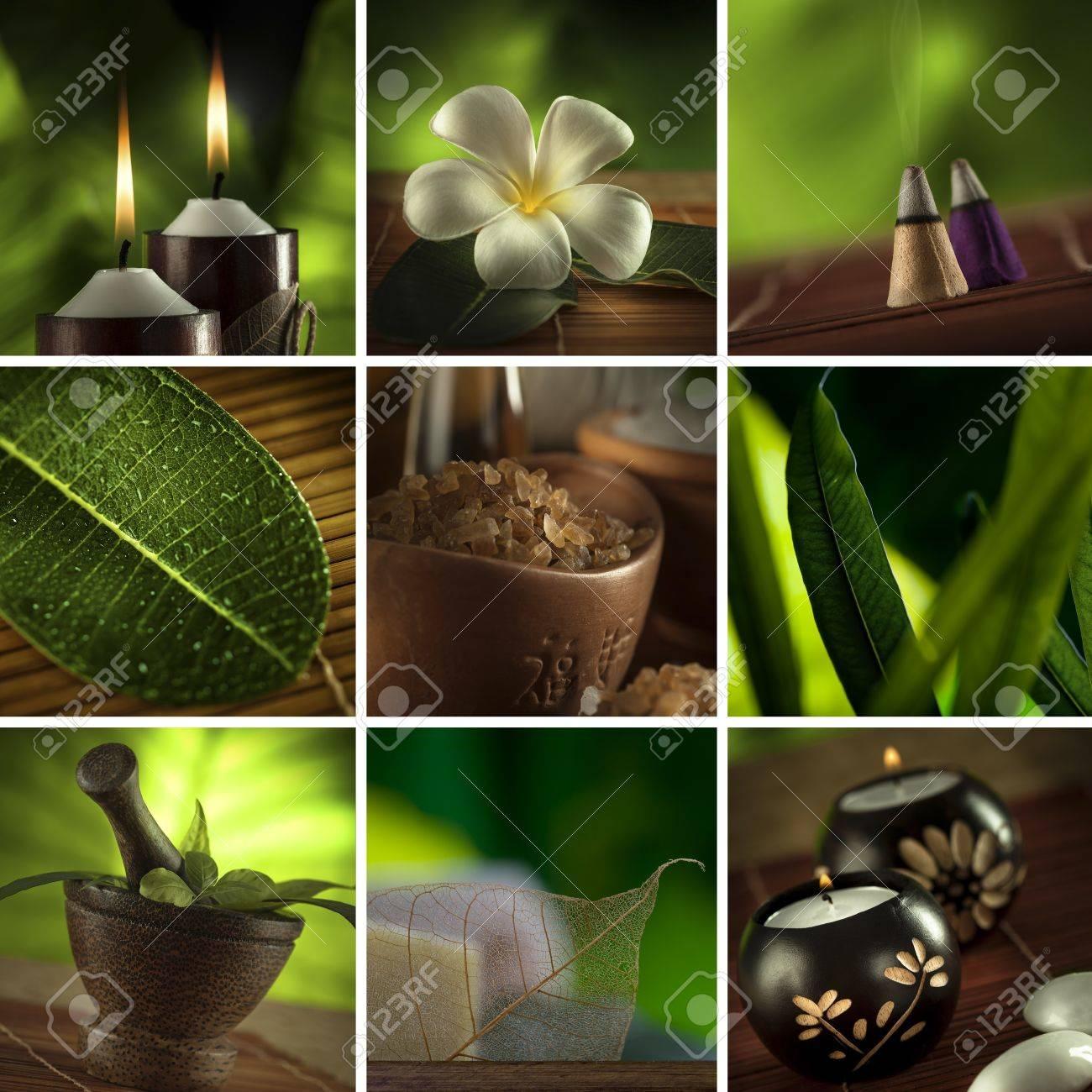 Spa Collage Tema Compuesto Por Unas Pocas Imágenes Fotos, Retratos ...