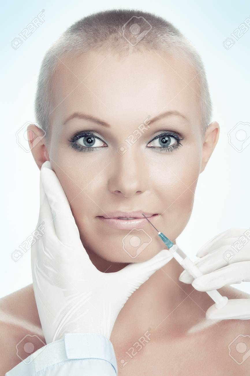 portrait of young beautiful woman  being treated Stock Photo - 20057019