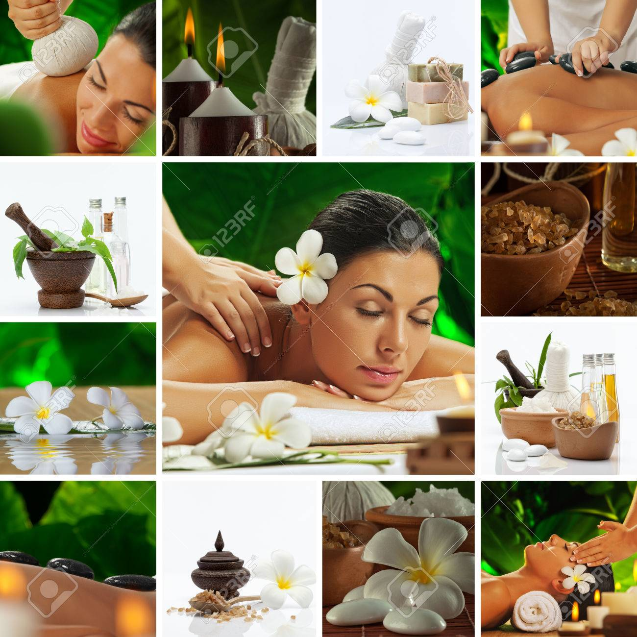 Spa theme  photo collage composed of different images Stock Photo - 22608833