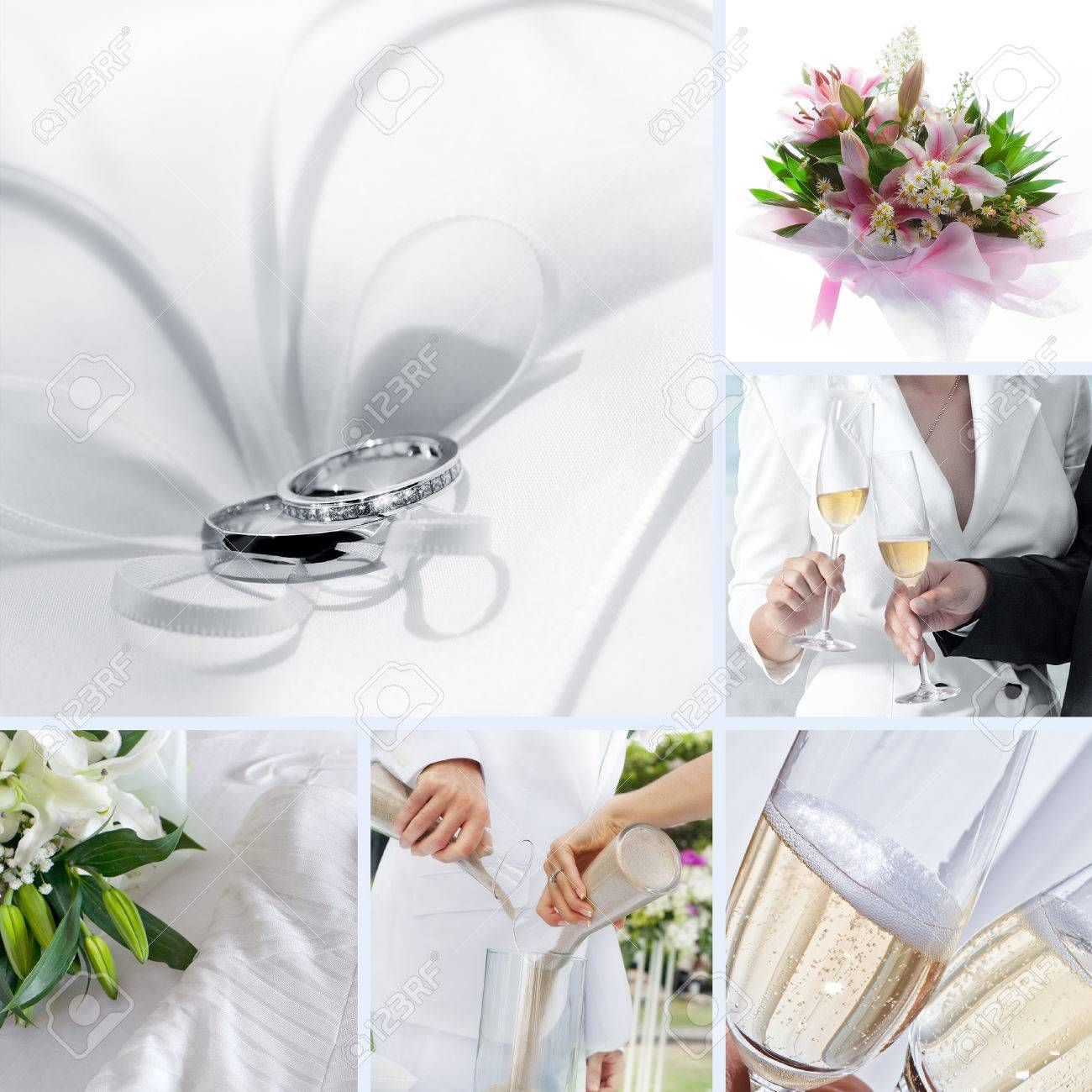 Wedding Theme Collage Composed Of Different Images Stock Photo ...
