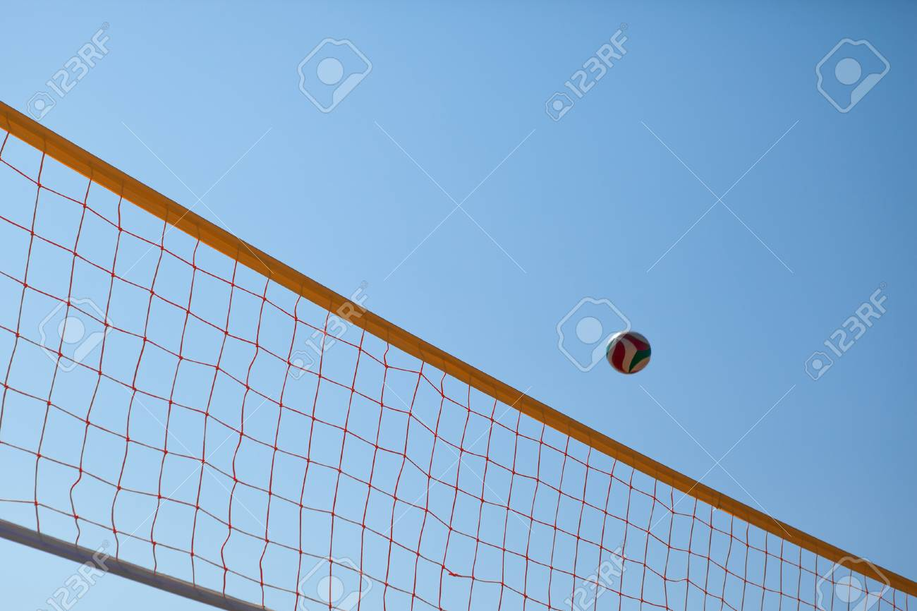 Volleyball flying over net royalty free cliparts, vectors, and.