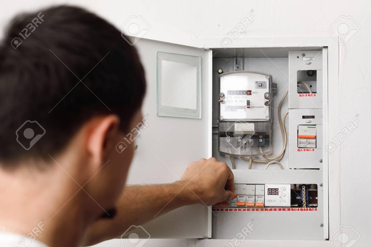 Electrical terminal box  man turn on or off