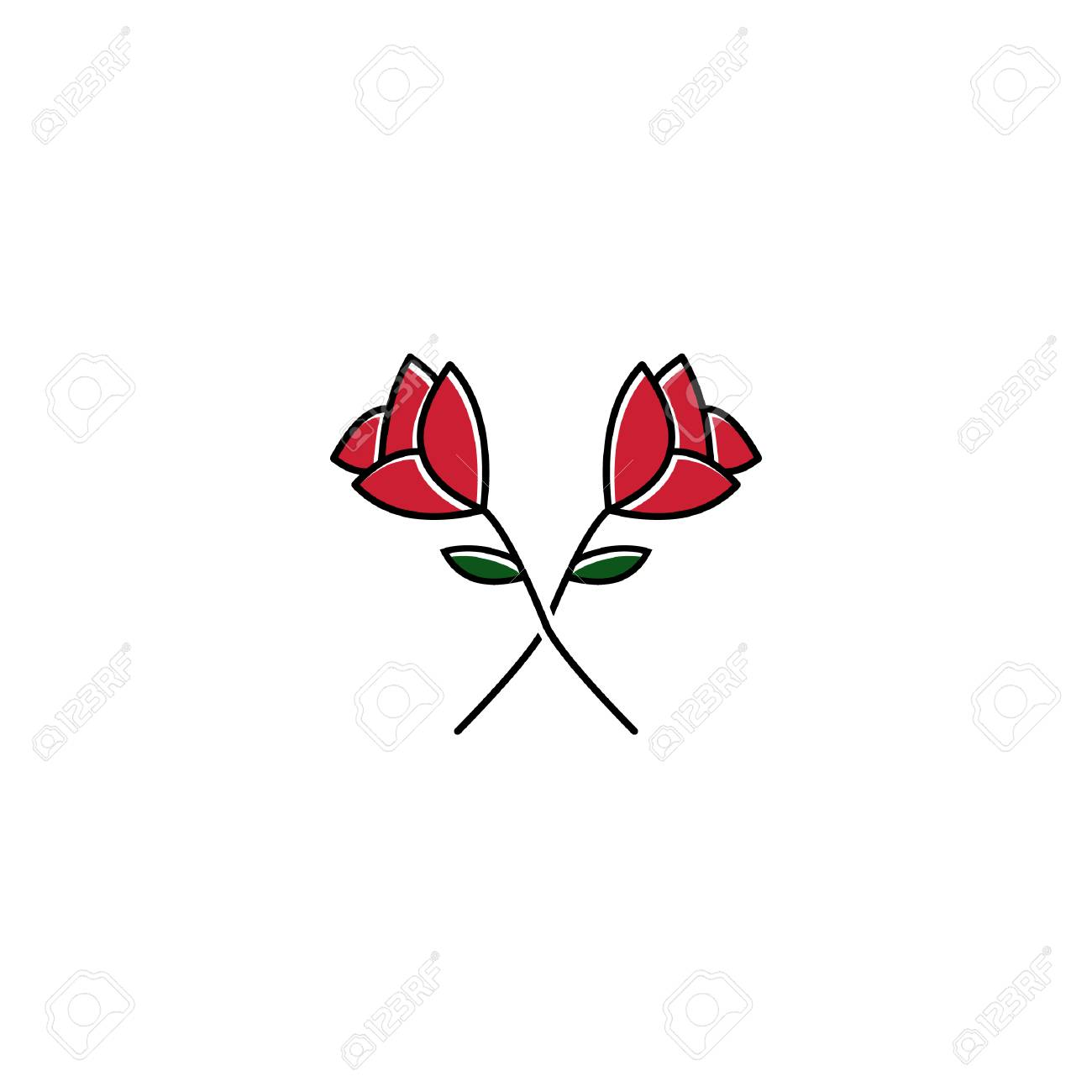 Red Rose Logo Vector Royalty Free Cliparts Vectors And Stock